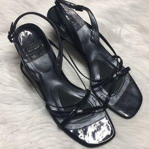 Stuart Weitzman slingback kitten heel sandals sz 8